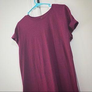 H&M Divided Basics Fuchsia T-Shirt Dress